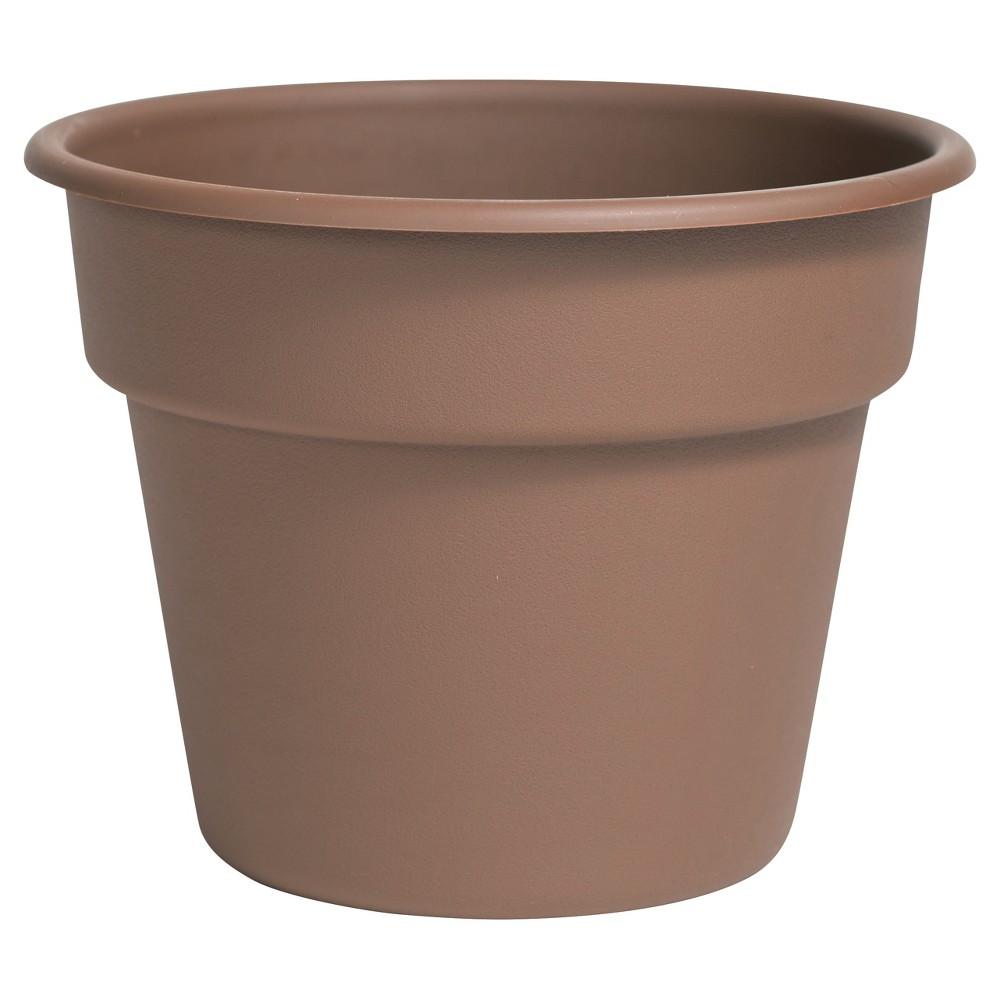 "Image of ""10"""" Dura Cotta Planter Chocolate Bloem, Size: 10"""", Brown"""
