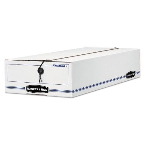 Bankers Box LIBERTY Check/Deposit Slip Storage Box 9 x 23 x 4 White/Blue 12/Carton 00002 - image 1 of 1