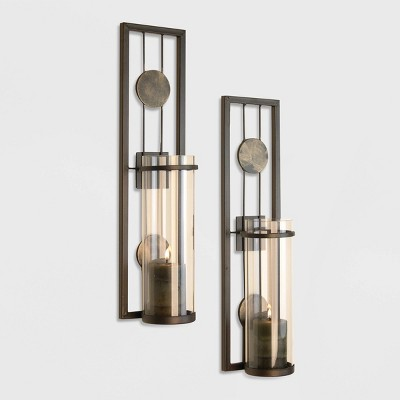2pc Contemporary Wall Sconces Set - Danya B.