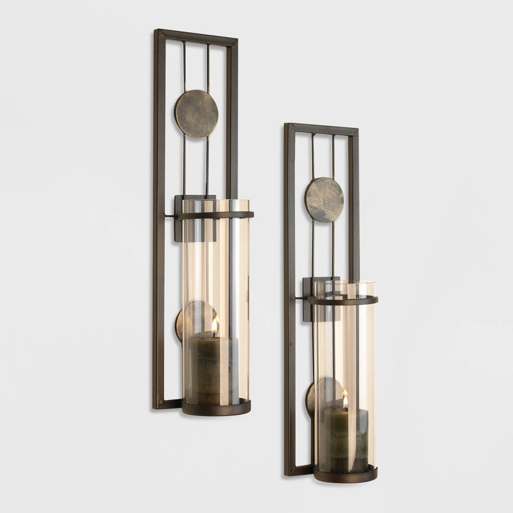 Image of 2pc Contemporary Wall Sconces Set - Danya B.