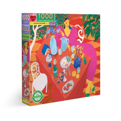 eeBoo Piece and Love: Eating Outside Jigsaw Puzzle - 1000pc