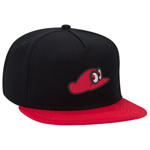 Super Mario: Cappy Brimmed Hat - Black/Red - image 1 of 1