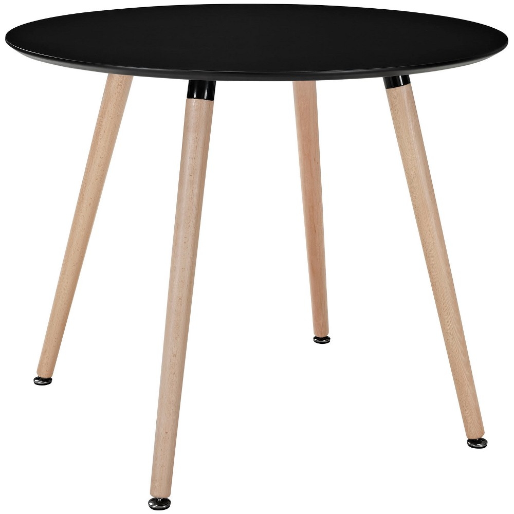 Track Round Dining Table Black - Modway