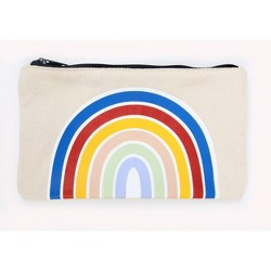 Canvas Zipper Pencil Case Rainbow - Room Essentials