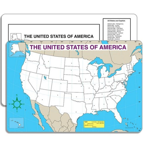 Carson Dellosa 30 Sheets Blank US Map Jumbo Pad - image 1 of 4