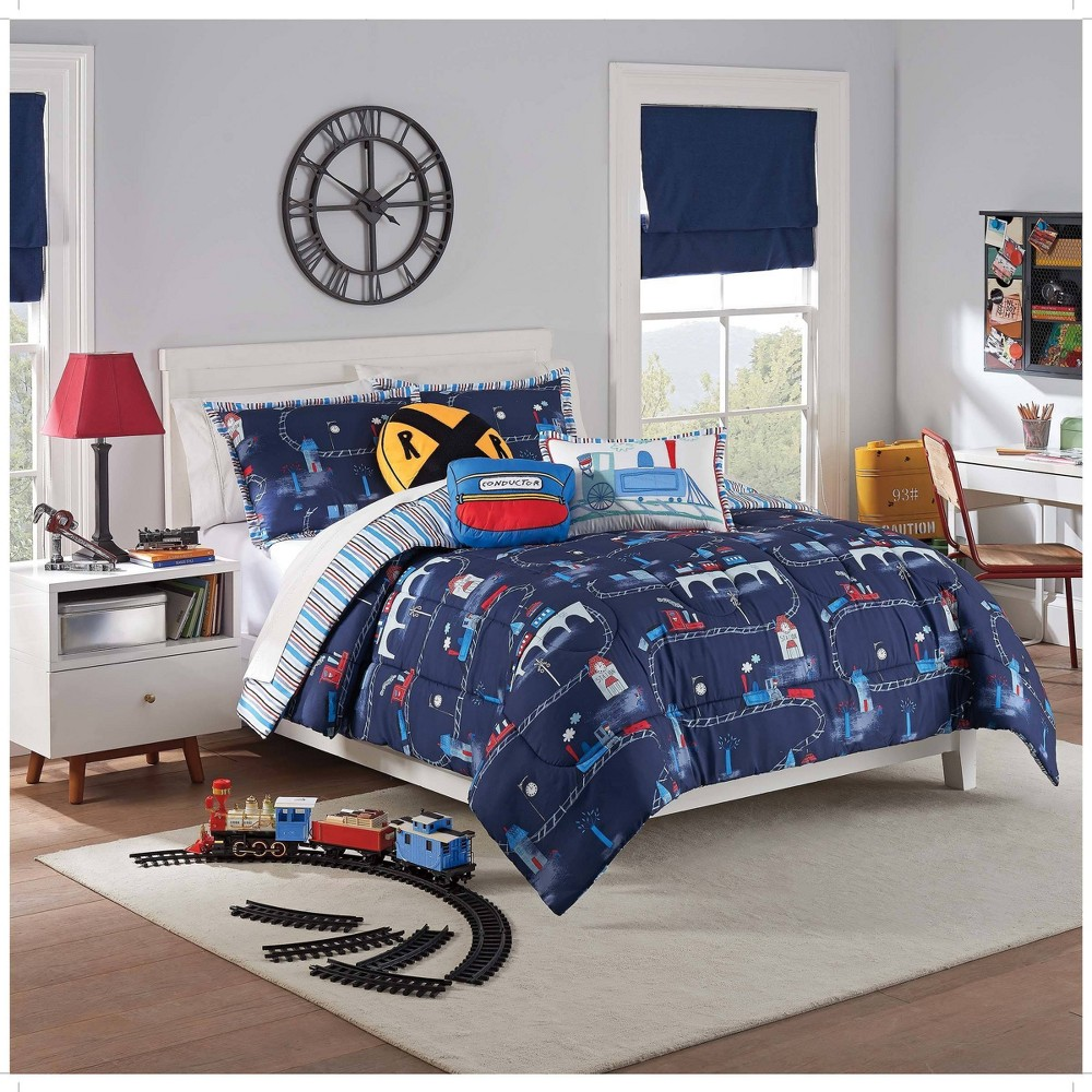 Image of 2pc Twin All Aboard Comforter Set - Waverly Kids
