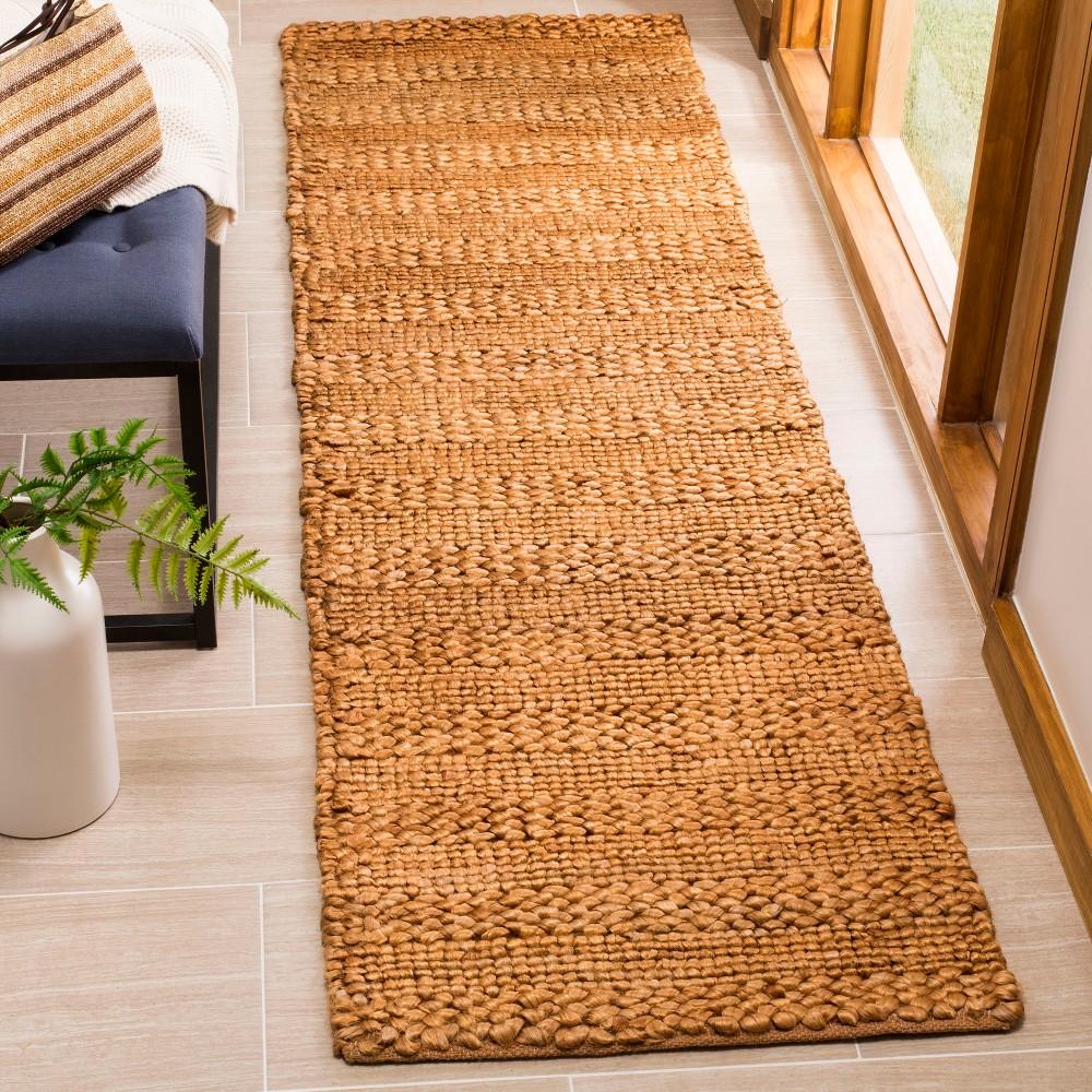 2'2X8' Woven Stripe Runner Rug Gold - Safavieh