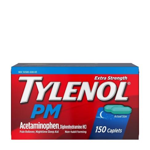 Tylenol Pm Extra Strength Pain Reliever Sleep Aid Caplets