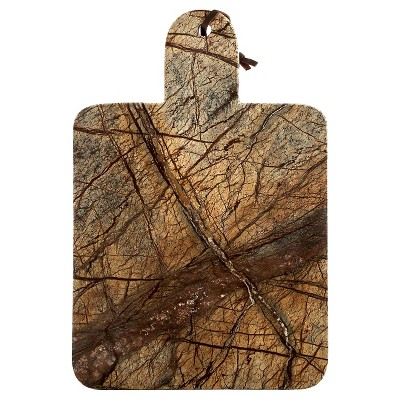 Thirstystone Large Rainforest Marble Paddle Serving Board