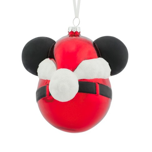 hallmark mickey mouse disney glass ball christmas ornament target