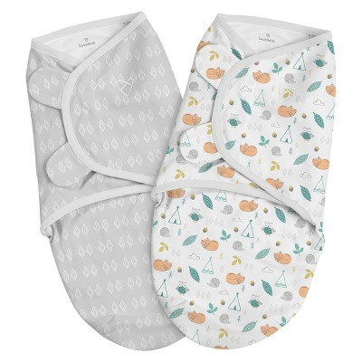 SwaddleMe Original Swaddle 0-3 Months - 2pk Sleepy Forest S