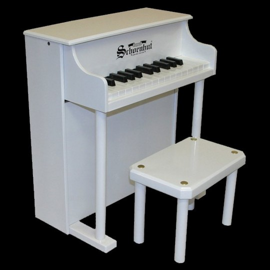 Schoenhut 25-Key Traditional Spinet - White image number null