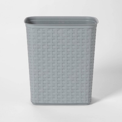 5.8 Gallon Weave Waste Basket - Gray - - Room Essentials™