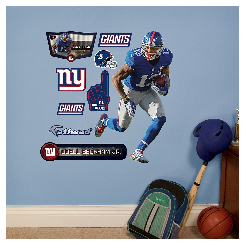 NFL New York Giants Odell Beckham Jr. Fathead Wall Decal Set, Blue