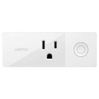 WEMO Mini Smart Outlet Plug Wi-Fi Enabled - White (F7C063)