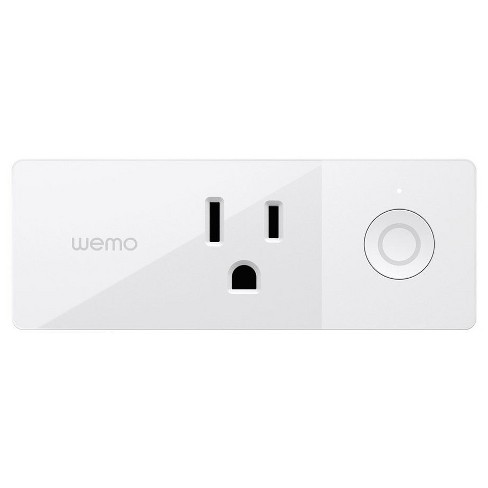 WEMO Mini Smart Outlet Plug Wi-Fi Enabled - White (F7C063) - image 1 of 4