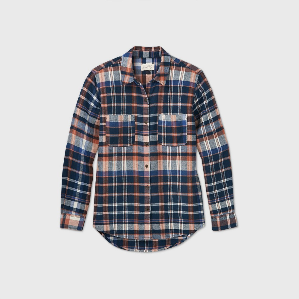 Coupons Women' Plaid Long leeve Button-Down Flannel hirt - Univeral Thread™