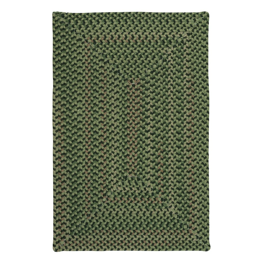 Image of 2'X3' Fleck Braided Area Rug Green - Colonial Mills