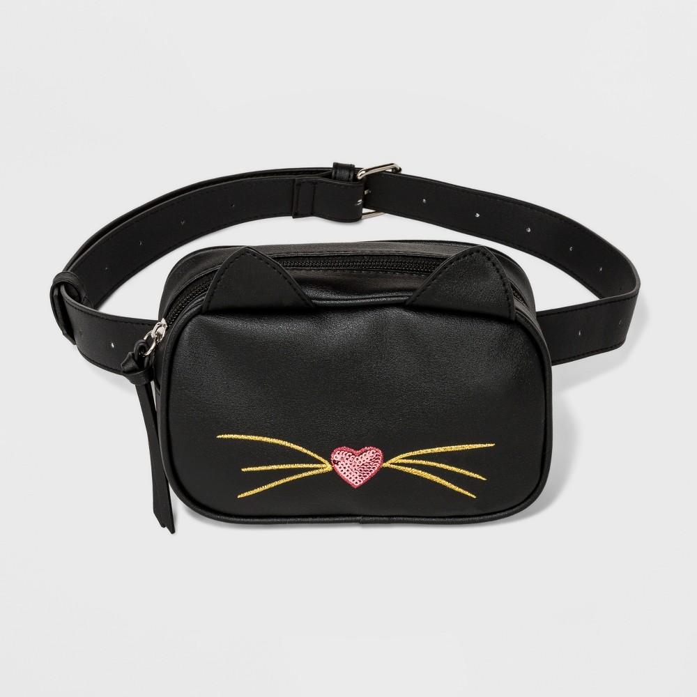 Cat Fanny Pack - T-Shirt & Jeans Black