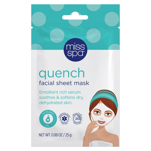 Unscented Miss Spa Quench Facial Sheet Mask - 1ct - image 1 of 2