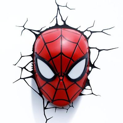 Marvel 3D Wall Night LED Light - Spider-Man Mask