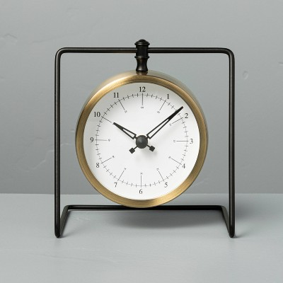 Sitabout Hanging Clock Brass/Black - Hearth & Hand™ with Magnolia