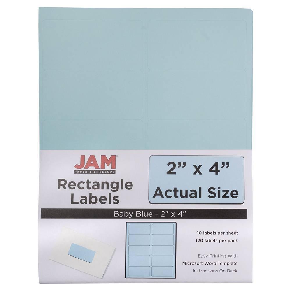 "Image of ""JAM Paper Mailing Labels 2"""" X 4"""" 120ct - Light Blue"""