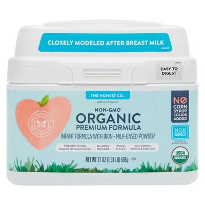 Honest Company Premium Organic Lactose Infant Formula - 21oz