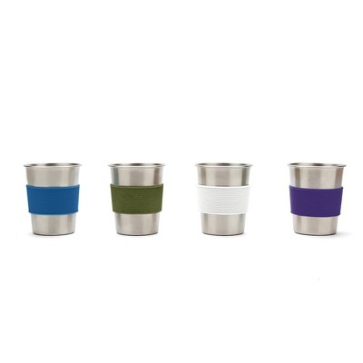 Red Rover 10oz 4pk Stainless Steel Kids' Tumblers
