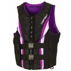 OBrien 2018 Womens Purple Neo Impulse Biolite Wakeboard Life Vest, Adult X-Small