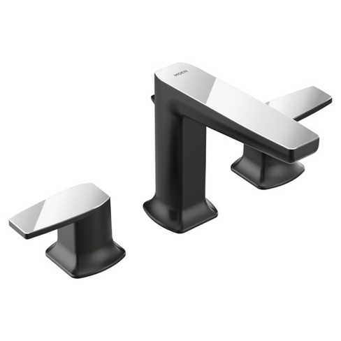 Moen Ts8002 Via 1 2 Gpm Widespread Bathroom Faucet With Pop Up