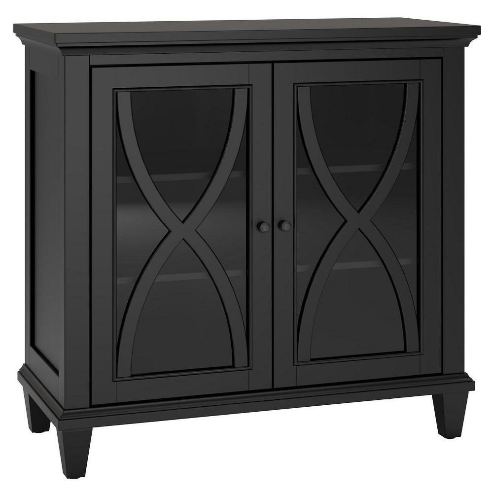 Drakestone Double Door Accent Cabinet Black - Room & Joy