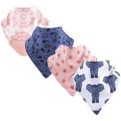 Yoga Sprout Baby Girl Cotton Bandana Bibs 4pk, Free Spirit, One Size