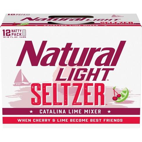 Natural Light Seltzer Catalina Lime Mixer - 12pk/12 fl oz Cans - image 1 of 3