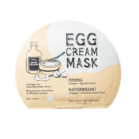 too cool for school Egg Cream Face Mask Pore Tightening - 28g - image 1 of 2