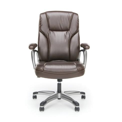 High Back Swivel/Tilt Leather Office Chair - OFM - image 1 of 4