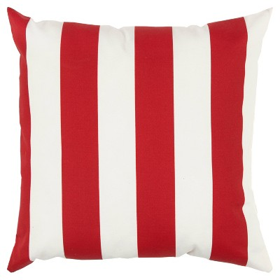 """22""""x22"""" Oversize Poly-Filled Striped Indoor/Outdoor Square Throw Pillow - Rizzy Home"""