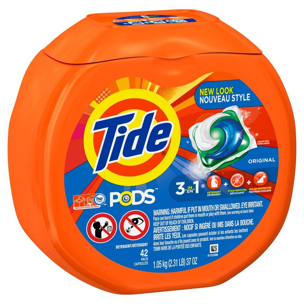Tide Pods Original Liquid Laundry Detergent Pods - 42ct