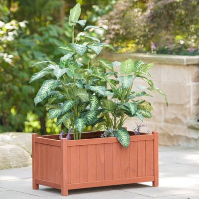 Rectangular Planter Box - Brown - Leisure Season