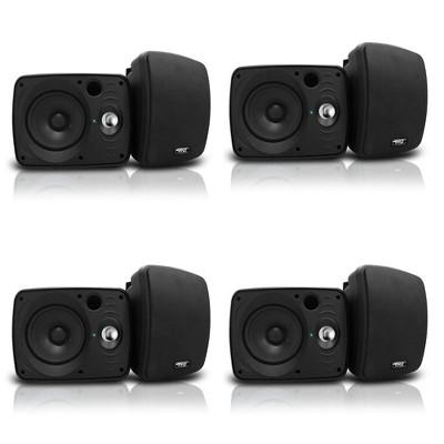 "Pyle 6.5"" 800W Waterproof Bluetooth Indoor & Outdoor Speakers, Black (8 Pack)"