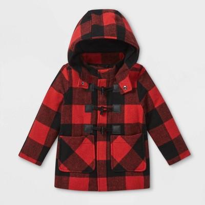 Toddler Buffalo Plaid Duffel Jacket - Cat & Jack™ Red