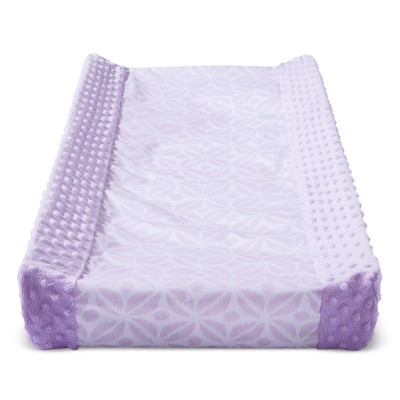 Wipeable Changing Pad Cover with Plush Sides Pretty in Purple - Cloud Island™ - Purple
