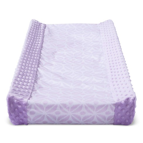 Wipeable Changing Pad Cover with Plush Sides Pretty in Purple - Cloud Island™ - Purple - image 1 of 1