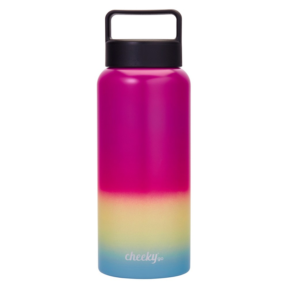 Cheeky 32oz Insulated Stainless Steel Water Bottle - Iridescent Pink