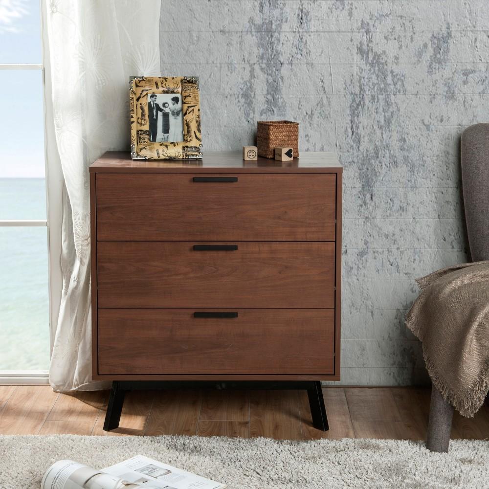 Image of Aspen 3 Drawer Dresser Vintage Umber Brown - Loft 607