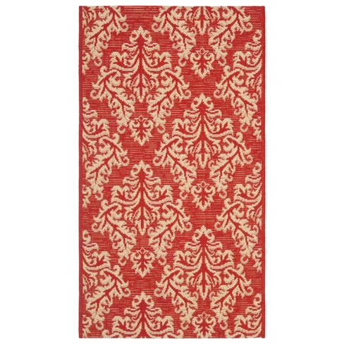 Eastleigh Patio Rug - Red / Creme - Safavieh® - image 1 of 3