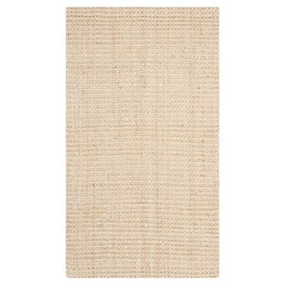 Ivory Solid Woven Accent Rug 2'3 x4' - Safavieh