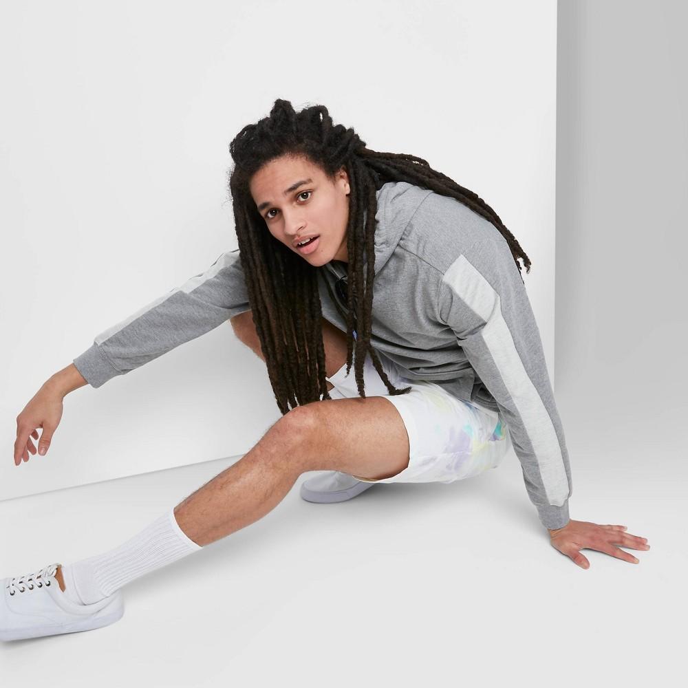 Men 39 S Regular Fit Tie Dye 6 5 34 Mid Rise Woven Jogger Shorts Original Use 8482 White Xs