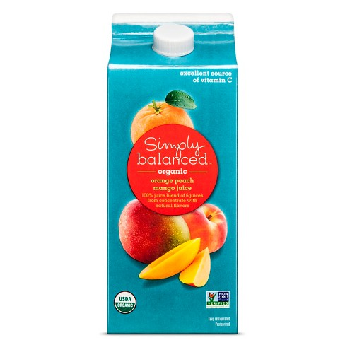 Organic Orange Peach Mango Juice Blend - 64oz - Simply Balanced™ - image 1 of 1