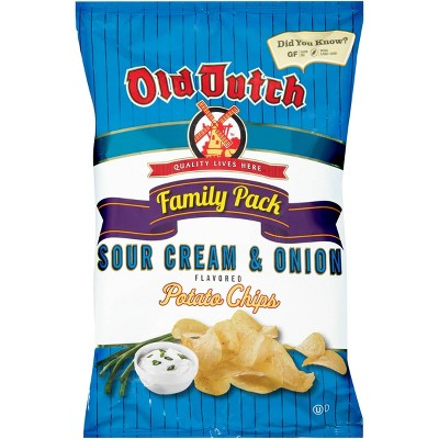 Old Dutch Sour Cream & Onion Flavored Potato Chips - 9.5oz